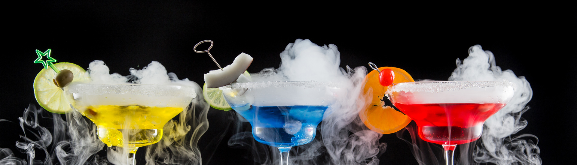Cocktail With Dry Ice Vapor